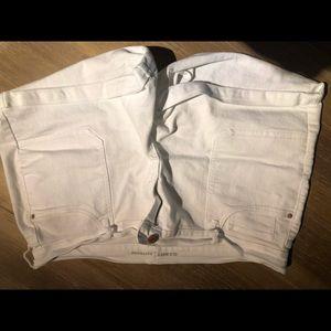 White denim boyfriend style shorts!  Size 16